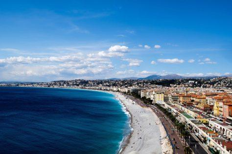 Motorcycle tour French Riviera, Castle hill, Nice, France